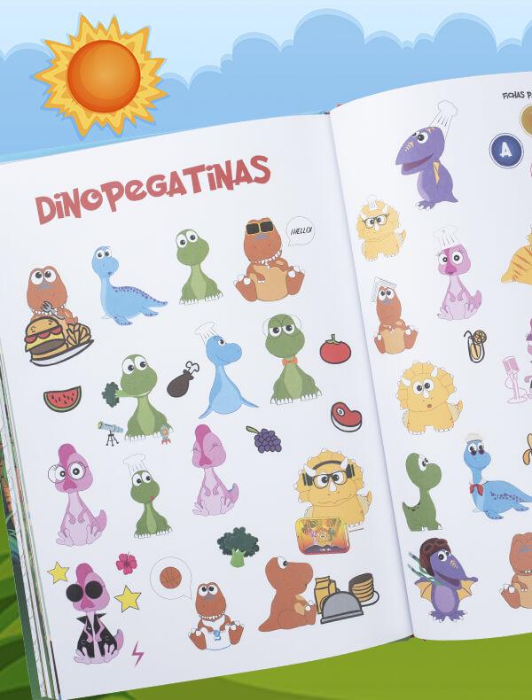Pegatinas del libro Dinojitos